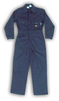 (BFR750) COTTON NAVY FIRE RETARDANT COVERALL (7.5 OZ)