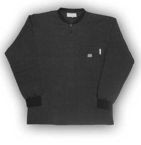 (FR0101BK) LONG SLEEVE 100% COTTON BLACK