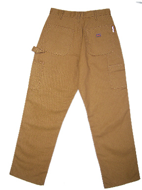 (CBF1215) Brown Duck Fire Retardant Carpenter Pants