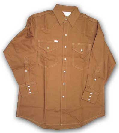 (FR1007BN) Brown Fire Retardant Shirt (10 OZ)