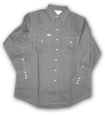 (FR1004GY) Gray Fire Retardant Shirt (10 OZ)