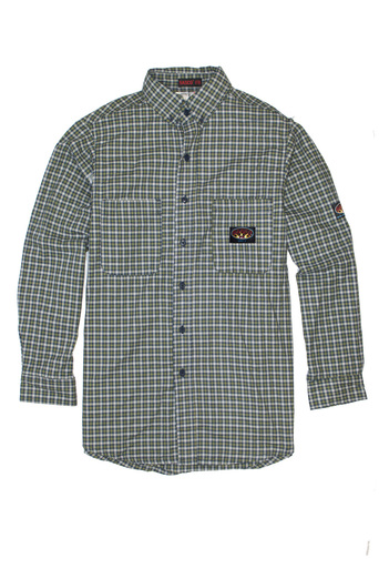 Green Plaid FR Dress Shirt (PLG755)