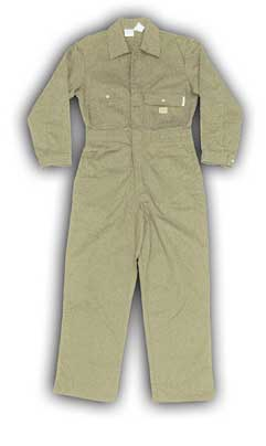 (KFR751) KHAKI FIRE RETARDANT COVERALL (7.5 OZ)
