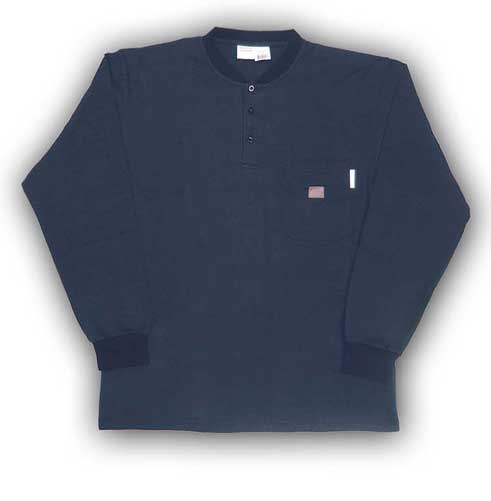 (FR0101NV) LONG SLEEVE 100% COTTON NAVY