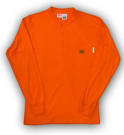 (FR0101OR) LONG SLEEVE 100% COTTON ORANGE
