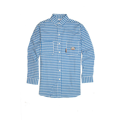 Blue Plaid FR Dress Shirt (PLB762)