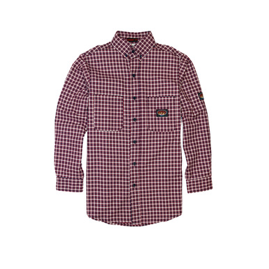 Red Plaid FR Dress Shirt (PLR756)