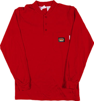 (FR0101RD) LONG SLEEVE 100% COTTON RED